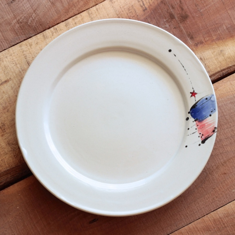 rimmed plate