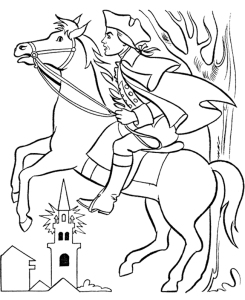 Paul Revere coloring book
