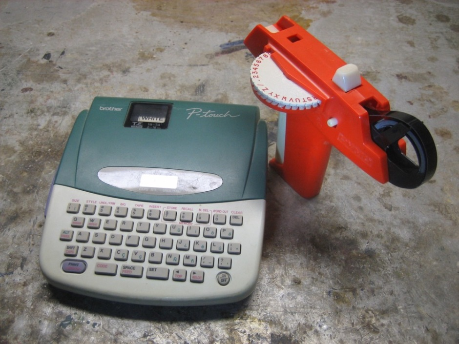 Friends of the studio: The Label Makers. The orange one is a vintage treasure.